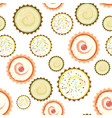 sweet cape cakes pattern on white background vector image
