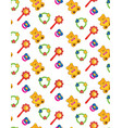 toy seamless pattern baby pattern abstract baby vector image