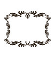 vintage baroque frame scroll floral ornament vector image vector image