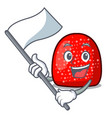 with flag gumdrop mascot cartoon style vector image vector image