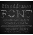 Chalk font vector image