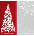 Christmas background with christmas tree vector image
