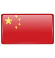 Flags China in the form of a magnet on vector image