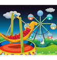 A carnival at the hill vector image