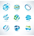 abstract globe symbol setcommunication and vector image vector image