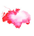abstract red watercolor stain texture background vector image vector image