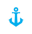 anchor letter abstract icon logo vector image vector image