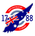 Australia day poster with flag vector image vector image
