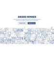 award banner design vector image vector image