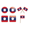 badges with flag of Laos vector image vector image