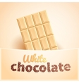 Bar of white chocolate vector image