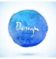 Blue watercolor circle design element vector image