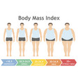 body mass index uderweight to extremely obese vector image vector image
