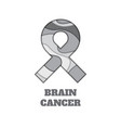 brain cancer awareness papercut ribbon vector image vector image