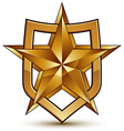 Branded golden geometric symbol stylized golden vector image vector image