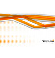 bright abstract background template orange with vector image vector image
