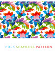 bright color folk style floral seamless pattern vector image vector image