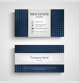 business card with blue halfone effect template vector image vector image