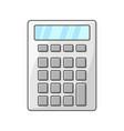 calculator icon on white vector image vector image