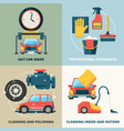 car dry cleaning water wash service foam sponge vector image vector image