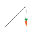Carrot on a stick vector image vector image