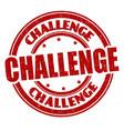 challenge grunge rubber stamp vector image vector image