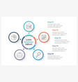 circle infographics with five elements vector image vector image