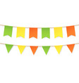 colourful bunting in vintage flags garlands set vector image
