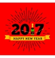congratulations to happy new 2017 year with a vector image vector image
