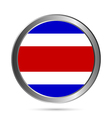 Costa Rica flag button vector image vector image