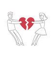 couple in love quarreling divorce family vector image