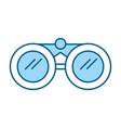 cute blue binoculars cartoon vector image vector image