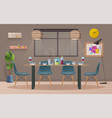 dinning room interior with furniture vector image vector image