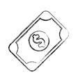 figure bill cash money to buy vector image vector image