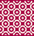 floral seamless pattern red and beige geometric vector image vector image