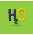Formula of water H2O vector image