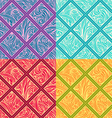 Four geometric patterns vector image