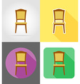 furniture flat icons 07 vector image vector image