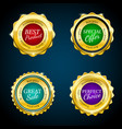 gold premium sale badges set colorful design vector image vector image