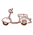 Hand Drawn Scooter vector image