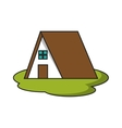 Isolated house and home building design vector image