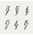 Lightning icon minimal linear contour outline vector image vector image