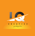 lq l q letter modern logo design with yellow vector image vector image