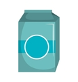 milk box carton isolated icon vector image vector image