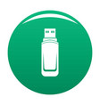 mini flash drive icon green vector image vector image