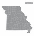 missouri county map vector image vector image