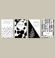 monochrome greeting cards vector image vector image