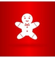 Nice gingerman on the red background vector image vector image