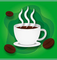 paper style hot coffee or hot chocolate with vector image vector image