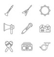 piece of music icons set outline style vector image vector image